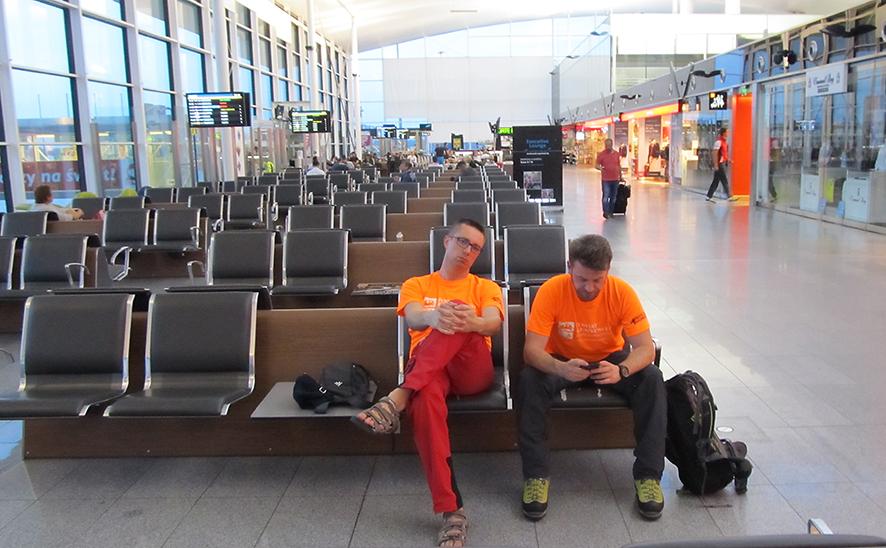 Czekamy na samolot