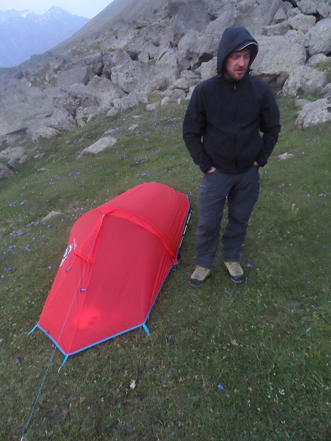 Namiot Witka nie był wielki, ale ważył tylko kilogram