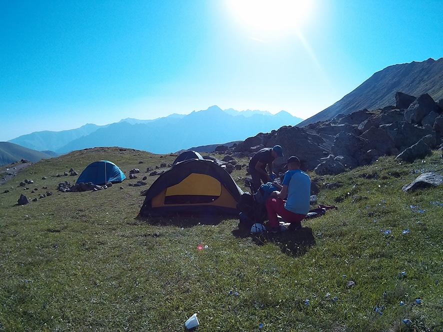 Piękny poranek na Kaukazie